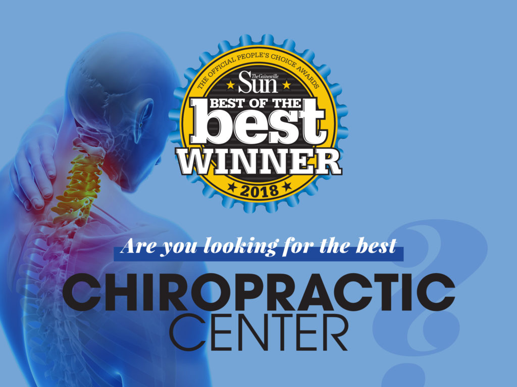 Voted Best Chiropractic of Gainesville in 2018